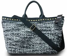 MADE IN ITALY DA DONNA DESIGNER BORSA SHOPPER XL A TRACOLLA BOUCLE Maglia Pelle Colorato