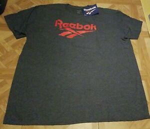 Reebok Classic Logo T-Shirt Men's 2XL Navy Blue with Red Logo Brand New