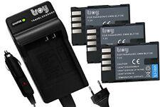 Ladegerät+ 3 Akku für Panasonic Lumix DMW BLF19 BLF19E DMC-GH4A DMC-GH3A DMC-GH5