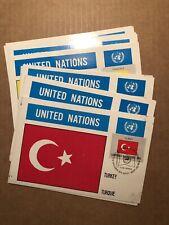 SET OF 16 UNITED NATIONS MAXIMUM CARDS 1980 FLAG SERIES - #325-340