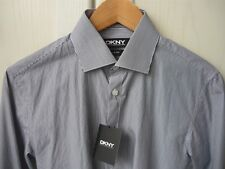 DKNY Hemd blau/weiß gestreift Gr. S slim-fit dress shirt navy/white pinstripes