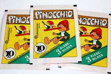 Americana 1978 Pinocchio 3 X Sac en Papier Paquet Bustina Rareté Absolue ! Rare
