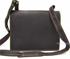Messenger Shoulder Bag Real Leather 30 x 25 x 10 cm Brown Visconti New 16025