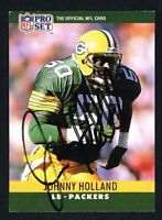 Johnny Holland #110 signed autograph auto 1990 Pro Set Football Trading Card