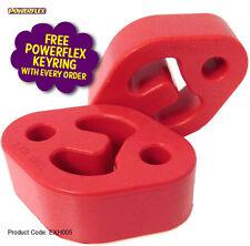 Par De Montaje De Escape Universal, Powerflex EXH005 (x2) totalmente nuevo, se adapta a numerosos coches