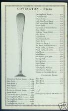 1934 Gorham Co. Covington Sterling Silver Price List Flatware