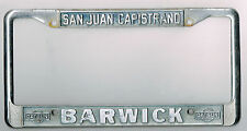 San Juan Capistrano California Barwick Datsun Vintage Dealer License Plate Frame