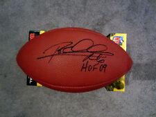ROD WOODSON Pittsburgh Steelers Autographed SIGNED Football w/ BAS COA HOF 09