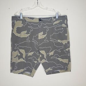 Billabong Submersibles Mens Green Camo Jungle Print Board Shorts Swim Trunks 38