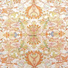 RALPH LAUREN Floral Medallion KING DUVET COVER SET NWT Orange Blue Ivory COTTON