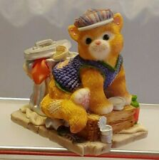 "Collectible Calico Kittens ""Feel-ine Fine In The City"" Enesco # 543500 W/Cert"