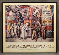"""Reginald Marsh's New York"" 1983 Whitney Museum Poster: 1936 Twenty Cent Movie"