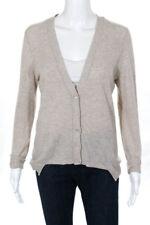 Autumn Cashmere Beige Cashmere Button Front Cardigan Sweater Size Medium