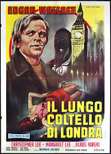 CINEMA-manifesto IL LUNGO COLTELLO DI LONDRA kinski, ch. lee, JACOBS