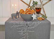 Tischläufer Läufer Tischdecke grau Zweige Herbst Winter Artefina 40/140