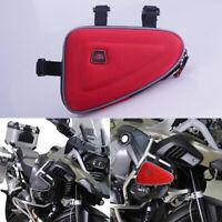 Universal Rot Motorrad Satteltaschen Rahmen Halterung Sack Etui für BMW Honda