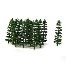 20pcs 1: 100 Tannen Bäume Modellbaum Parklandschaft Zugmodell Dunkelgrün