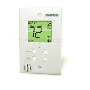 Venstar (T1100FS) Flushmount Programmable Multi-Stage Thermostat - Beige