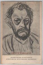 Ernst Barlach: Ausstellung im Frankfurter Kunstverein (mit Abb.)   1960