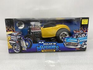 1/18 Funline Muscle Machines 32 Ford Roadster Yellow  Blown Gasser Part # 71165