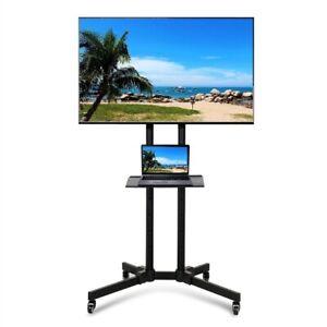 Support TV sur Pied à Roulettes Télévision Plasma LCD LED Ecran 32-65 pouce