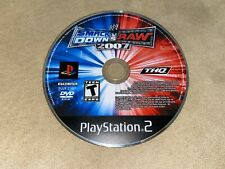 WWE SmackDown vs Raw 2007 Sony PlayStation PS2 Game Only *GOOD SHAPE, WORKS!*