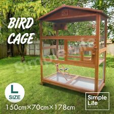 Petscene Extra Large Wood Bird Cage Budgie Parrot Aviary Canary Cage House