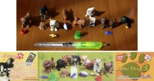 SET 8 Mini Figure LITTLE DOGS Cani SPECIES PART 3 Gasha FIGURES Bandai NEW MINT
