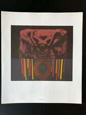 Strength and Stress Lithograph 1962 Futurist Space Age Mid Century Modern Art
