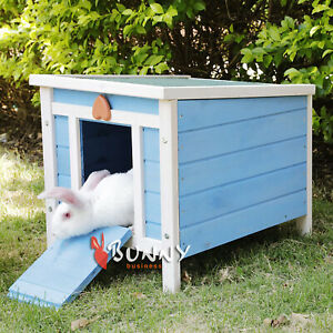 RABBIT HUTCH BLUE HIDE HOUSE FOR RABBIT PLAY PEN ENCLOSURE RUN RUNS TORTOISE