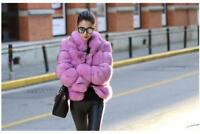 Womens Faux Fox Fur Coat Mid Long Jacket Parka Winter Warm Overcoat Outwear Chic
