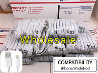 10/50 x Wholesale Lot 6ft Usb Charger Cord Cable For Iphone11 6s 7 8 8Plus X MAX