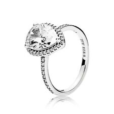 Authentic Pandora Silver 925 Radiant Teardrop Ring Size 7