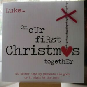 Personalised 1st Christmas Together Card Boyfriend Girlfriend