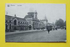 Belgien AK Namen Namur 1917 De Statie Gare Bahnhof Tram Straßenbahn 1. WK  BE12