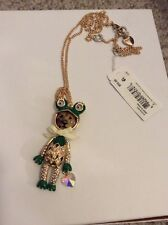 $55 Betsey Johnson Costume Critters Lion Frog  Long Pendant #W143A