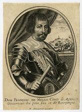 Antique Print-DON FRANCISCO DE MELO-REGENT-ROCROI-Moncornet-ca. 1650