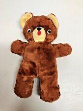 "Vintage 12"" Brown Teddy Bear Plush stuffed animal Toy"