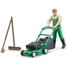 BRUDER Bworld Gardener With Lawnmower & Garden Tools 62103