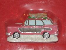 St. Nicholas Square Village Collection, Going Skiing, Red Car With Sled On Roof