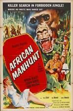 AFRICAN MANHUNT Movie POSTER 27x40
