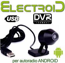 FRONT teleCAMERA USB DVR AUTORADIO ANDROID REGISTRARE VIDEO HD PER AUTO FRONTALE