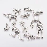 30pcs Tibetan Silver Animal Bead Charms Pendants Bracelet Fit DIY Jewelry Making
