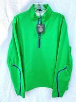 RLX RALPH LAUREN Golf Quarter Zip Pullover Mens Green Weatherproof M New $145