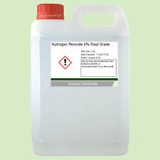 Peróxido de hidrógeno 6% de alimentos grado 2.5 litros (2.5L)