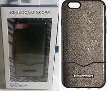 New Original REBECCA MINKOFF Slider Cracked Leather Anthracite Case for iPhone 7