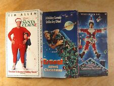 (3) THE SANTA CLAUSE/ERNEST SAVES CHRISTMAS/CHRISTMAS VACTION CHEVY CHASE VHS