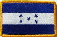 Honduras Flag  Iron-On Patch Military Morale Emblem Gold Border