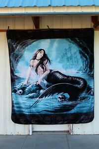 ANNE STOKES SIRENS LAMENT MERMAID GOTHIC FANTASY QUEEN SIZE BLANKET BEDSPREAD