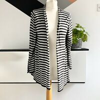 M&S MARKS AND SPENCER Cardigan size 12 Grey Black | Waterfall Silk Blend casual